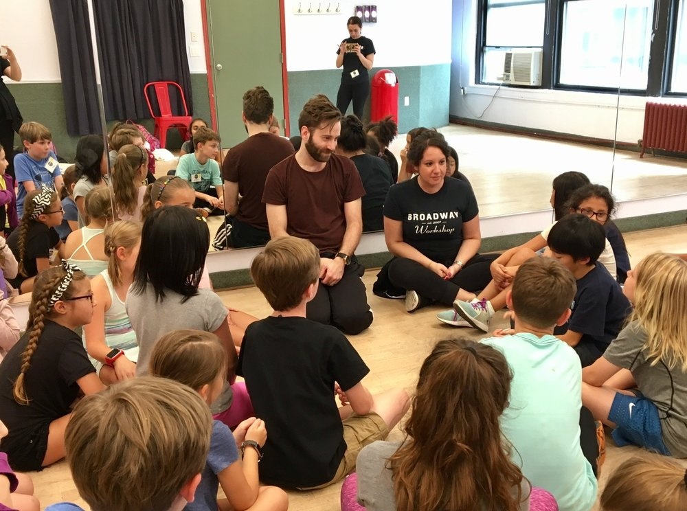 With YVETTE KOJIC and class for BROADWAY WORKSHOP in NYC - AUGUST 2017