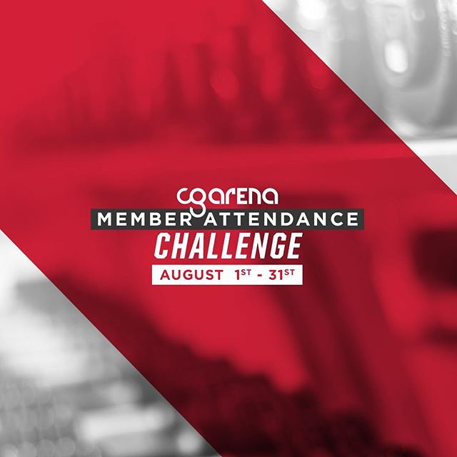 You have 2 weeks left to complete the Member Attendance Challenge. Complete rows and columns to win awesome prizes. Attendance sheets are available at the front desk. Speak to a Membership Advisor for details. Keep killin' those classes! 💪 #cgarenacheckin
