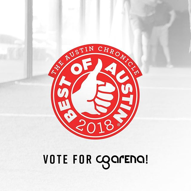 Voting is now open for Austin Chronicle's Best of 2018. Let Austin know CG Arena is the best Gym and Exercise Class! Send us a screenshot of your submitted ballot to info@cgarenagroupfitness.com and you will be entered into a drawing for a free month and CG swag.  Click link in bio to vote!