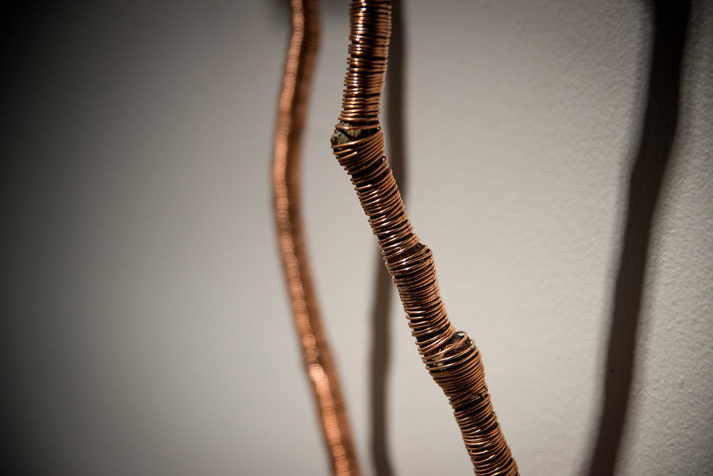 Find  (detail), 2018  Wild Grape Vine, Copper Wire, Dimensions Varible  Image Courtesy of Steve Myran