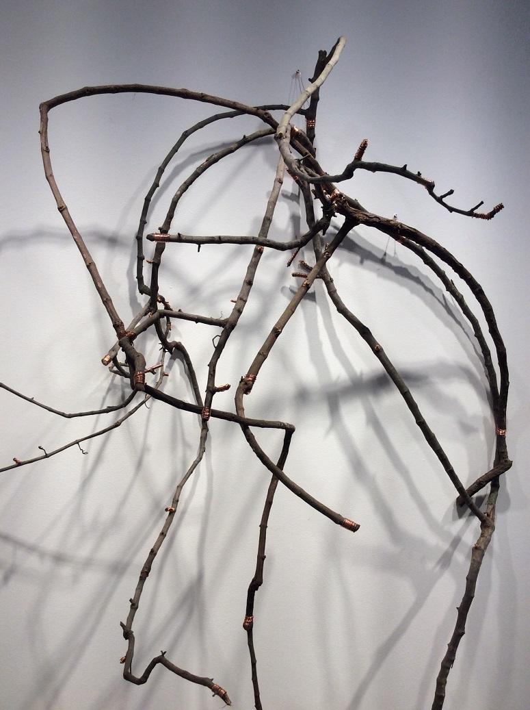 Happenstance     (detail), 2018  Wild Grape Vine, Copper Wire, Dimensions Variable
