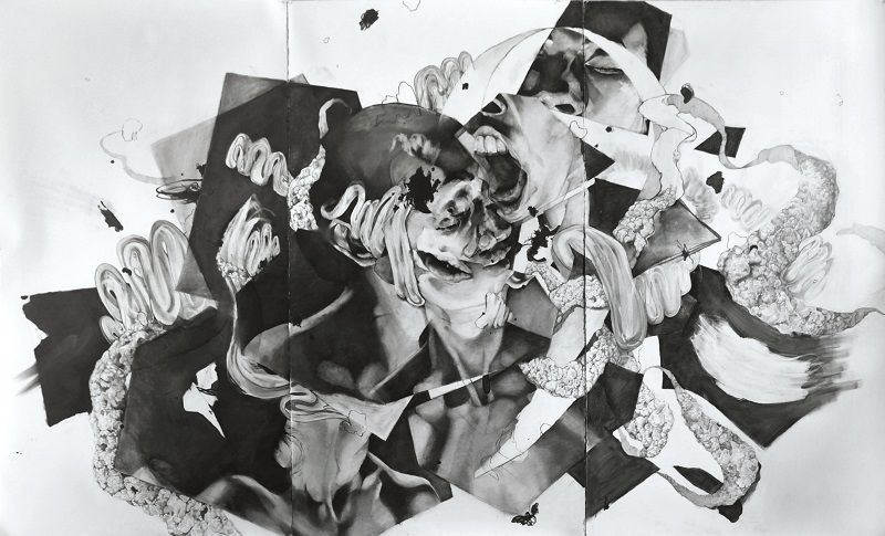 CONDITIONS OF UNCERTAINTY  |        MING YING HONG    Ming Ying Hong's black & white drawings explore the way we define and categorized states of being.  Feb 2—March 16, 2018  .  WPA Studio + Gallery  .  Norfolk, VA