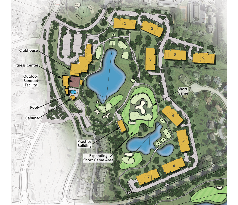 HighPointe is a nine building new development located on The Golf Club at Little Turtle