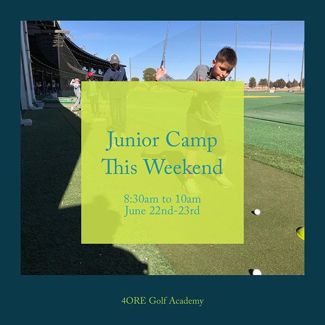 Junior Camp This Weekend! Sign up at: www.4oregolfacademy.com/juniorcamps or click on the link in the bio.