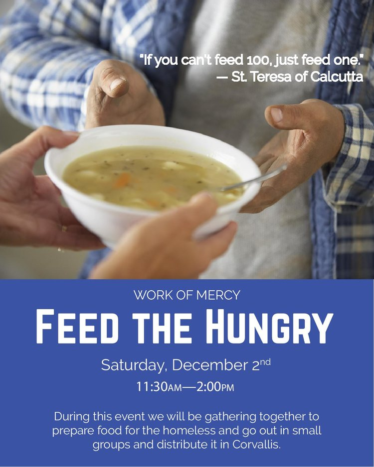 1bb4e3183711 Work of Mercy  Feed the Hungry — Newman Center at Oregon State