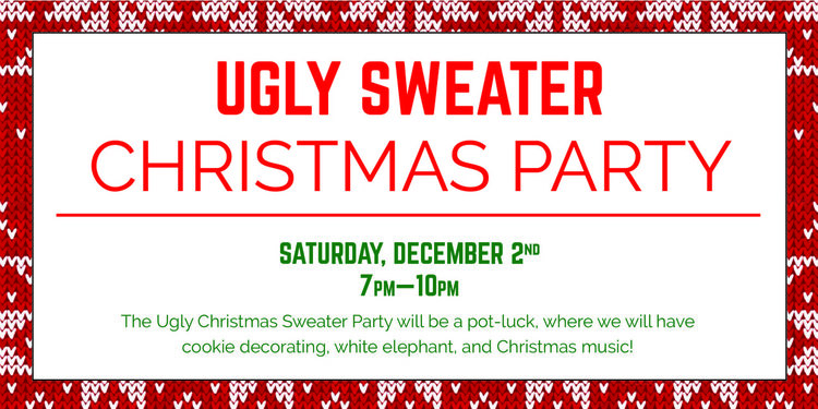7a252f3dec82 Ugly Sweater Christmas Party — Newman Center at Oregon State