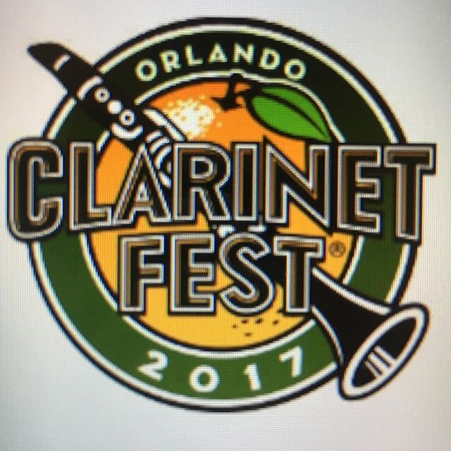Who else is super excited for ClarinetFest 2017? The fun starts tomorrow! I'm excited for the Gala opening recital and the concert with the Orlando Philharmonic on Wednesday's schedule! #clarinet #clarinetfest2017 #clarinerd