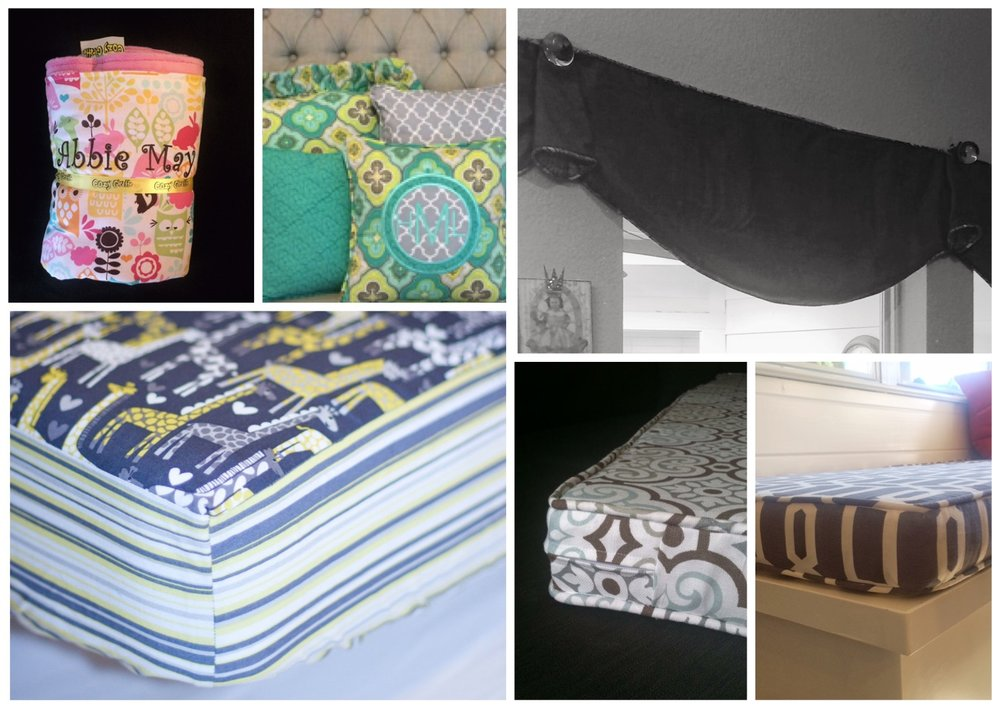 Specializing in saving you money - Cozy Giraffe makes custom home finishes less expensive, because you can skip the decorator and the expensive fabrics.  Use fabric you purchase from your favorite stores (or use some of mine).  You only pay Cozy Giraffe for the sewing.  We are a perfect solution for DIY decorators who don't have the equipment, know-how, time, or patience for sewing.