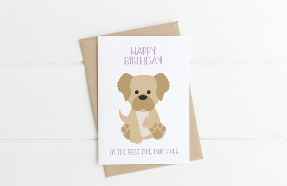 Labradoodle Goldendoodle Dog Mom Birthday Card