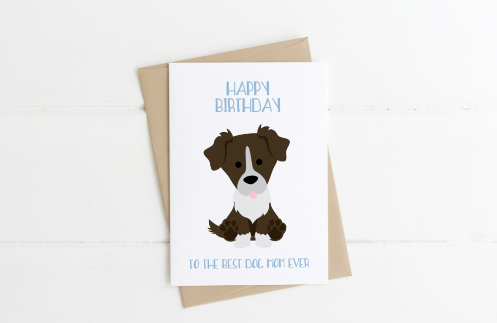 Border Collie Dog Dad Birthday Card