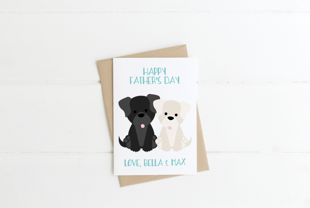 Chocolate Lab Yellow Lab Dog Mom Birthday Card