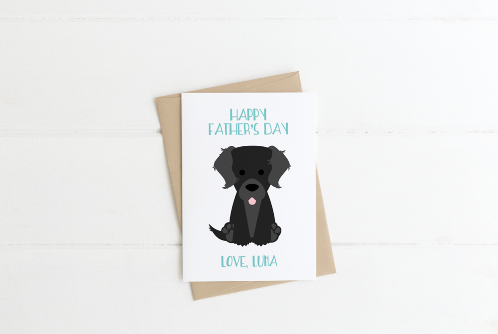 Collie Dog Dad Father's Day Card