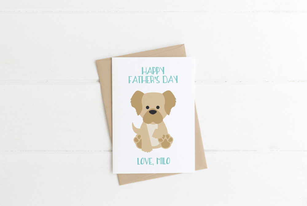 Labradoodle Dog Dad Father's Day Card