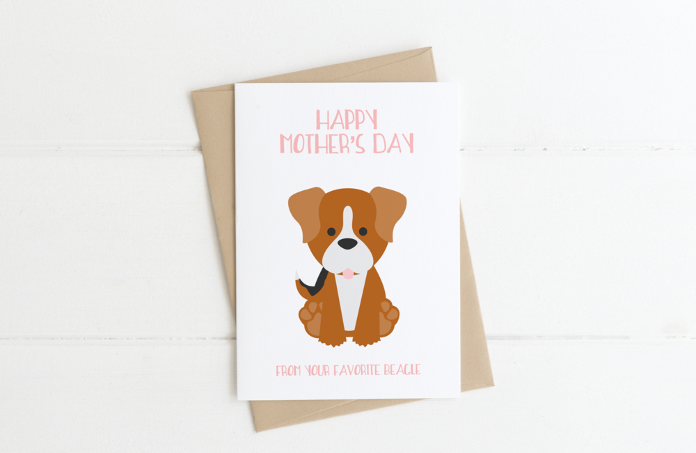 Beagle Dog Mom Mother's Day Card