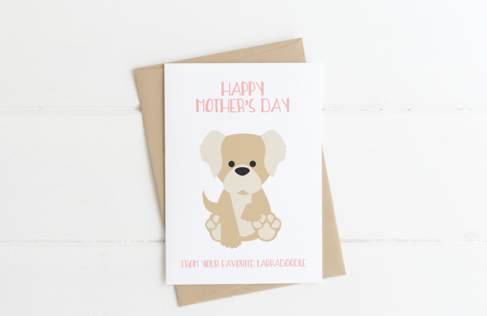 Goldendoodle Dog Mom Mother's Day Card