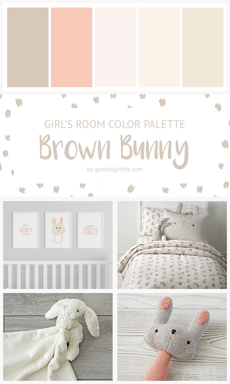 Brown Bunny Girl S Room Color Palette Goodnight Fox