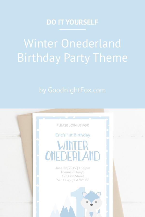 Diy Winter Onederland Birthday Party Theme Goodnight Fox