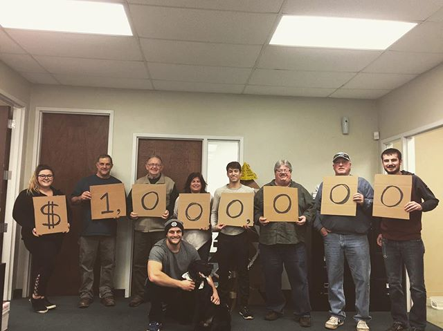 For the first time in CSPKG we have officially hit $1M in sales in a fiscal year! We found out at our Christmas party this afternoon. A big thank you to all the part timers that made this achievement a reality! It's been a long time coming! #smallbusiness