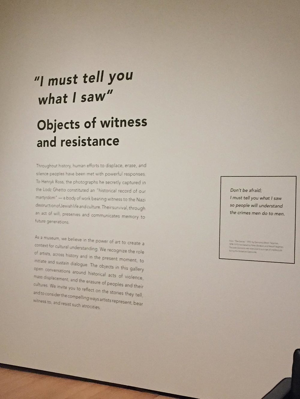 Boston Genocide Exhibit