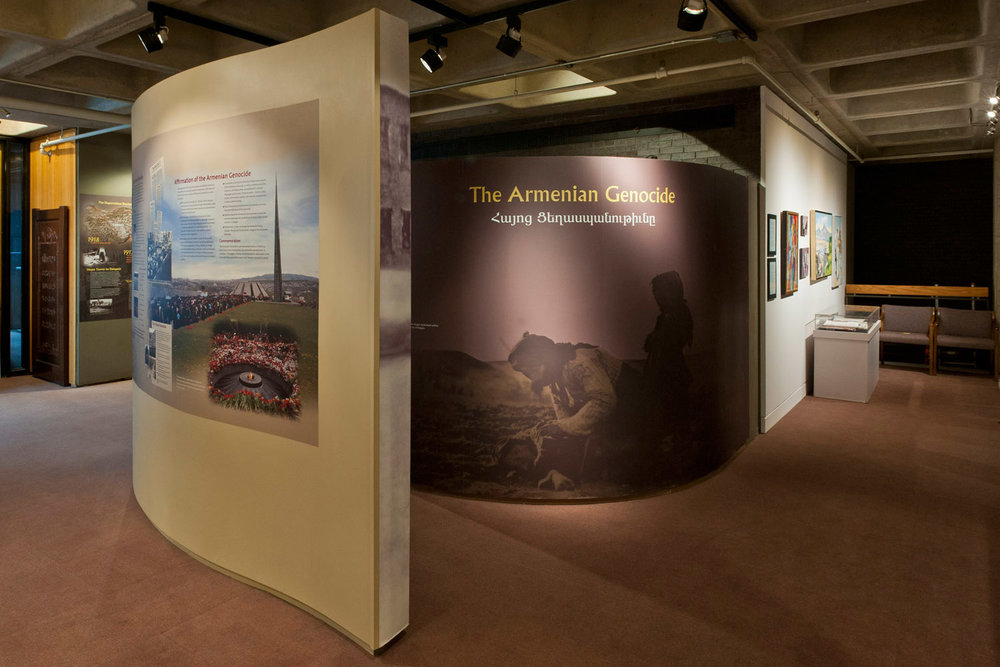 The Armenian Genocide - The exhibit is a stunning visual narrative of the events of the 1915-1923 Genocide, and the continuing aftermath and denial by the Turkish government over generations. The visitor will find a chronological narrative of the tragic events leading up to World War 1, the years of Genocide (1915-1923), and the continued denial to the present.