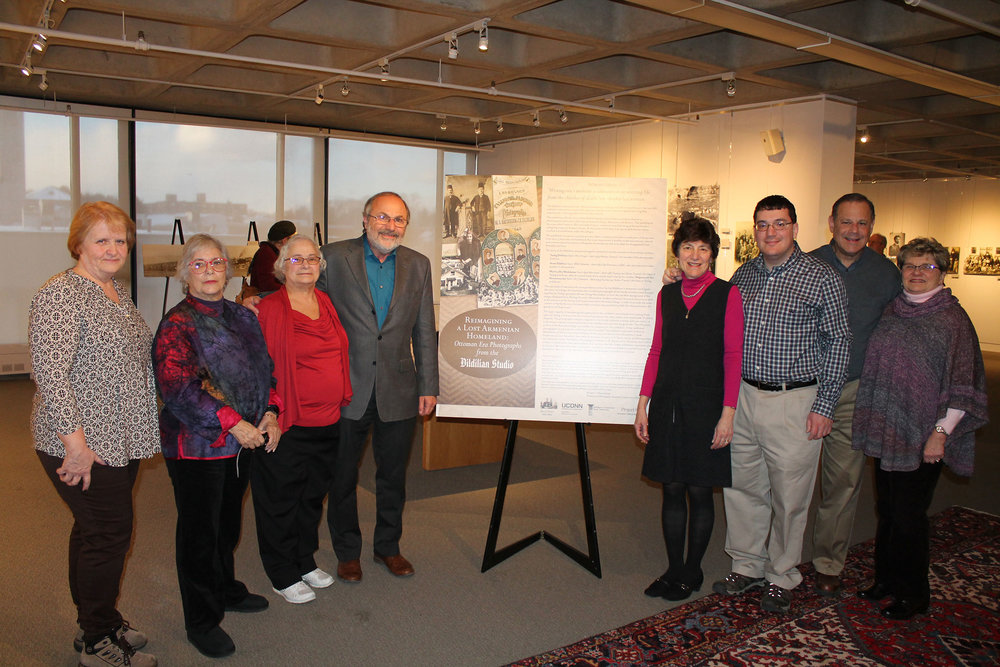 Armen Marsoobian (Left of Poster) with other Dildilian Family descendants