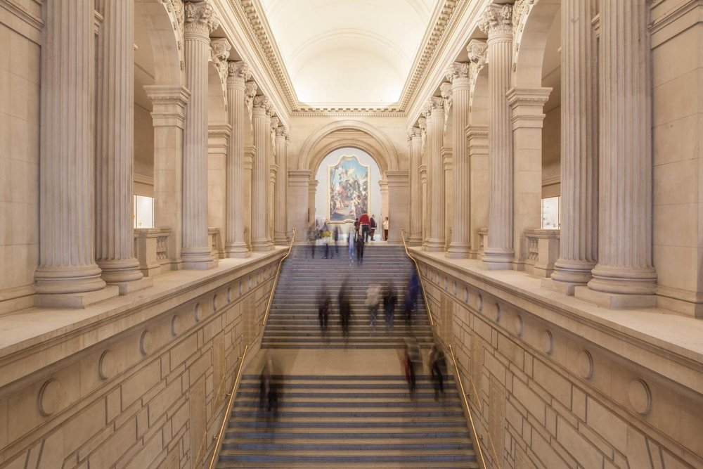 Interior of The Metropolitan Museum of Art, Fifth Avenue, New York