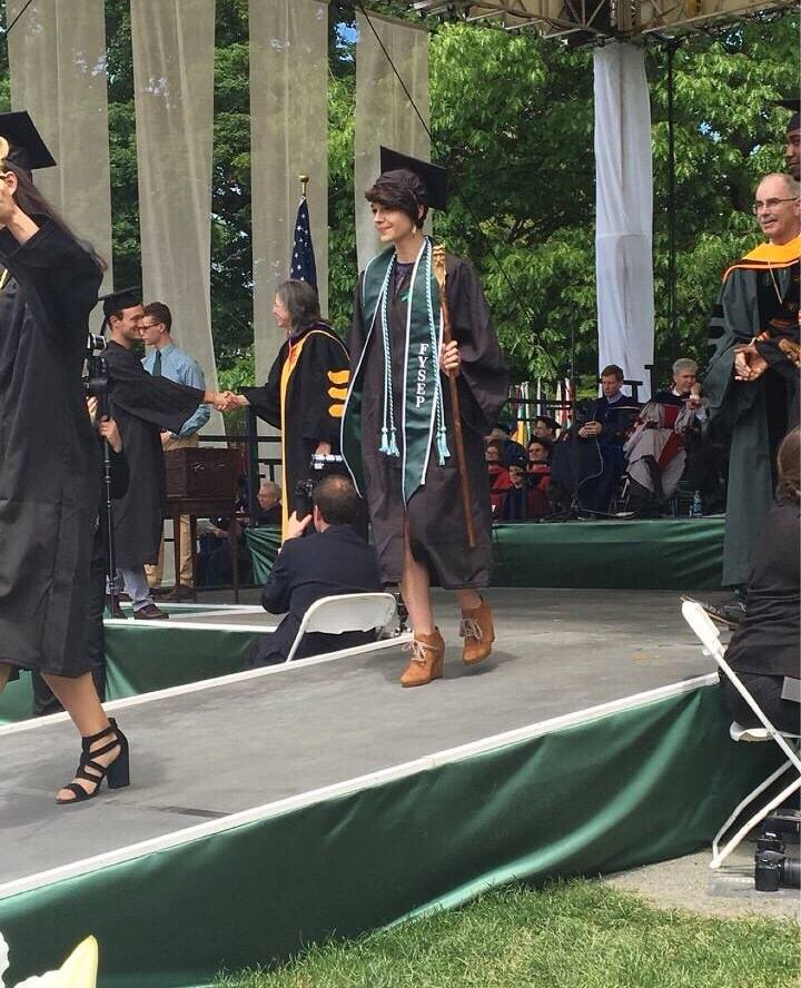 Her daughter, Andrea, pictured above, graduated from Dartmouth College in 2017 and now works as a project manager at a translation company in Glastonbury, CT.
