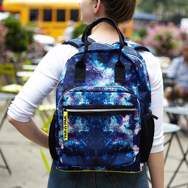 Ready for a weekend of adventure. Find this backpack at @minnowandmars. 💫#yakpaksback #galaxybackpack #yakpak