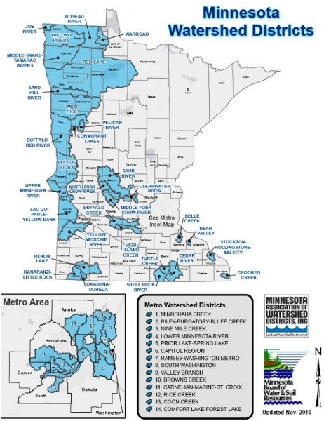 Watershed District Map — Minnesota Association of Watershed Districts