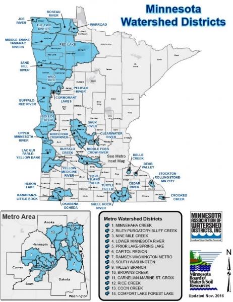 Bemidji Minnesota Map.Watershed District Map Minnesota Association Of Watershed Districts