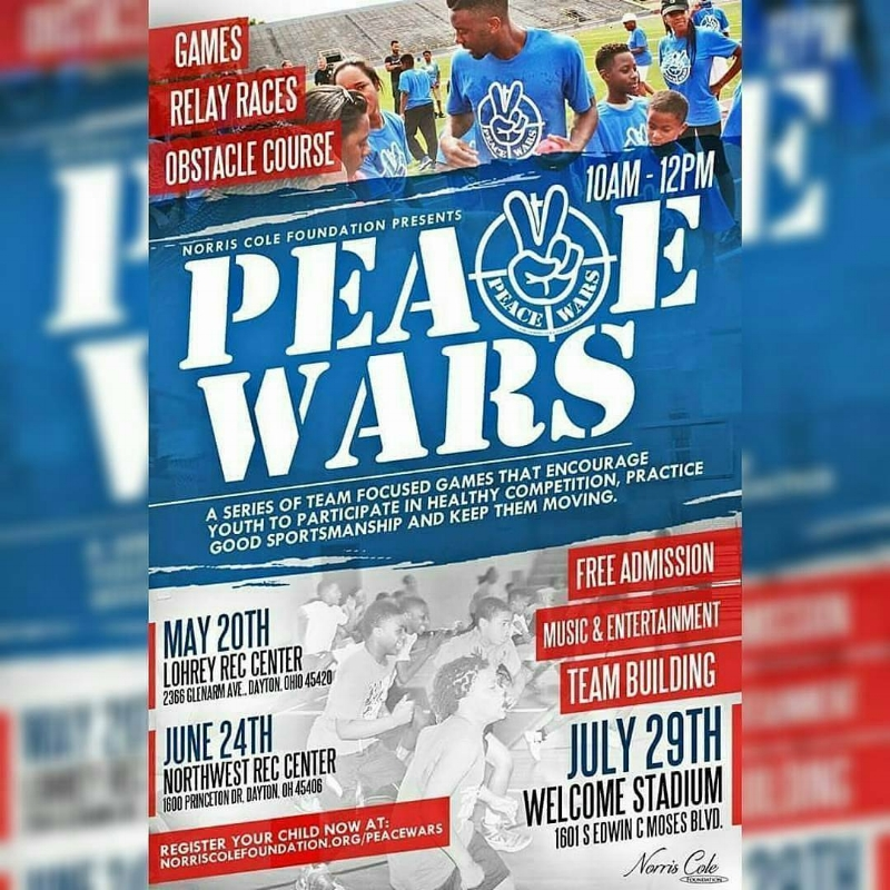 - Peace Wars is a program that encompasses a series of team focused games, encouraging youth to participate in healthy competition, practice good sportsmanship and keep an active lifestyle. The games also encourage community pride by interacting with other youth from the local area.A participation link to the Norris Cole Foundation page is below. For further volunteer information, click here.