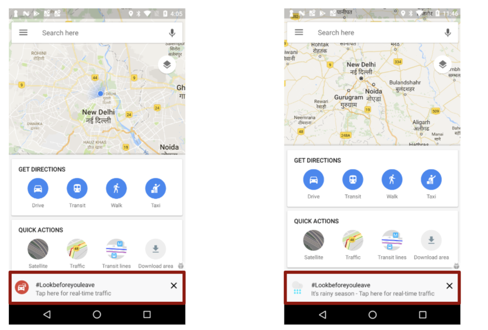 Smart testing directly in Google Maps.  In collaboration with our PM and Eng team, we tested copy, images, and captions across millions of users to find the most effective combination to drive results.