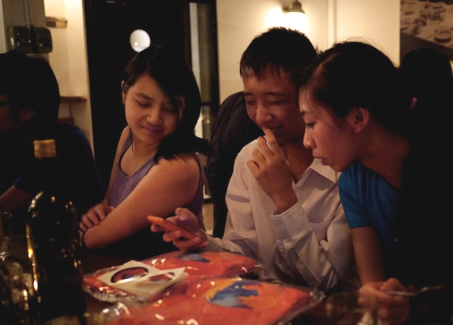 Mozilla contributor community dinner in Bangkok (August 2013)