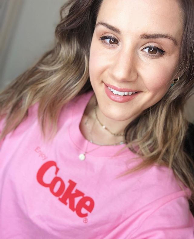 New Video on my Channel featuring all the things I am loving right now! Link in bio! To get this shirt and everything I mention go to http://liketk.it/2vRLm  #liketkit @liketoknow.it #LTKfamily #LTKunder50 #coke #cokeacola #forever21 #pink #blondebalayage