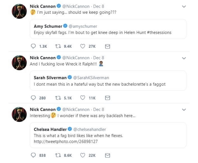 Tweets via Nick Cannon's Twitter