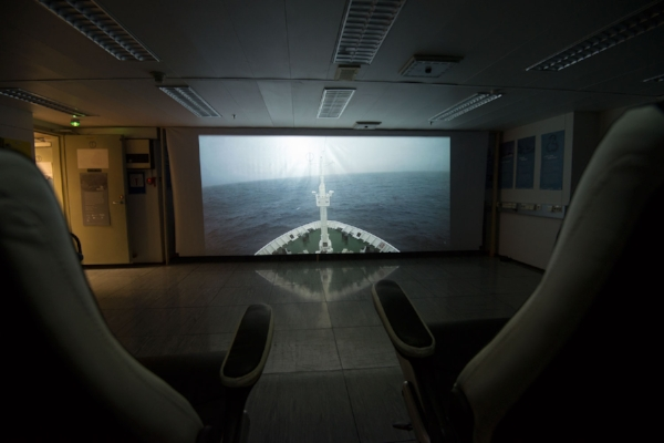 Vestibule , 2017, Antarctic Biennale, site specific video installation