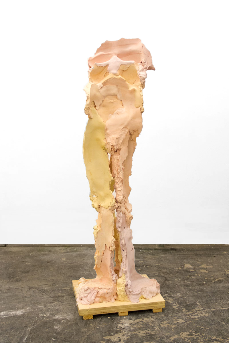 TFTF2  Plaster, Steel, Pigment, and Wax on a Wood Base, 2018  145 x 39cm x 45cm