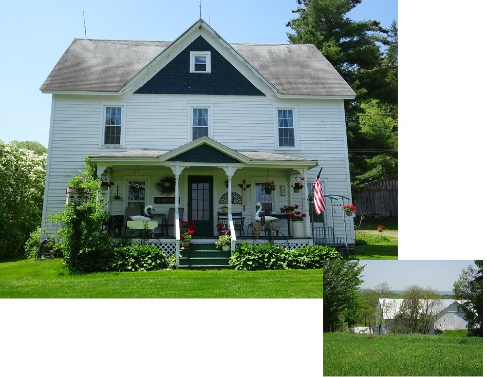 250,000 - Nice Greek Revival Farmhouse With Original Charm77 Acres With Magnificant 3-Story Overshot Barn, Pond and More!