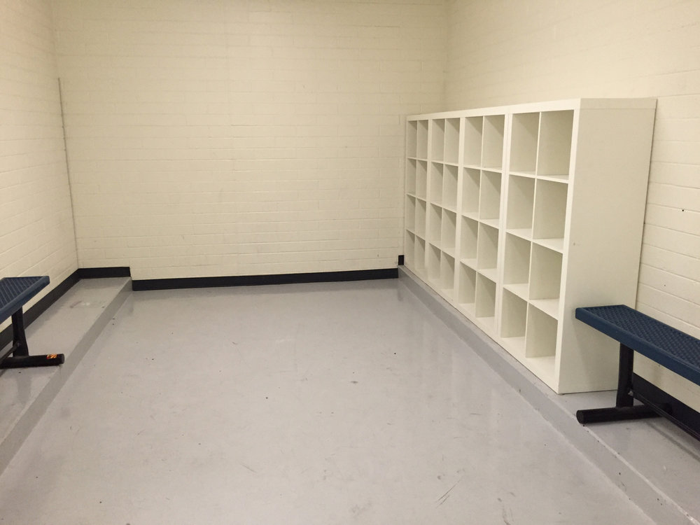 Men's locker room storage