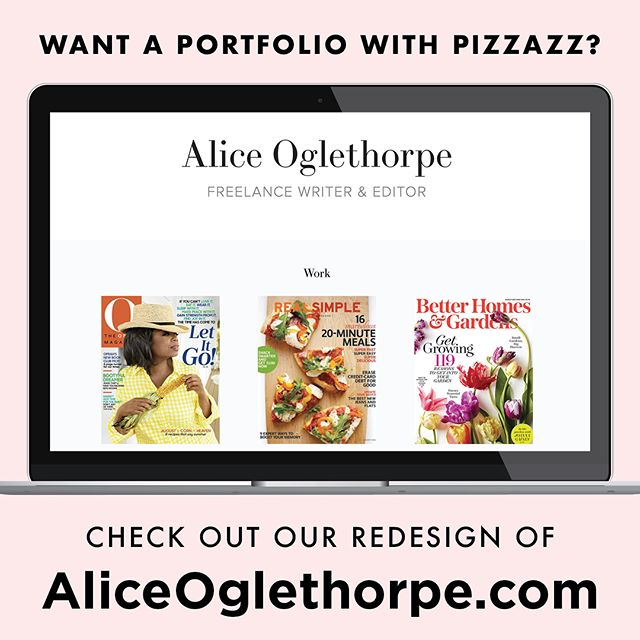 We love helping writers and artists create online portfolios with pizzazz!  Check out our website for writer and editor @aliceoglethorpe. From @oprahmagazine to @real_simple to @fitbit, her health & fitness clips pop on desktops and mobile alike. 📔💻💪🏻📝 . . . @betterhomesandgardens @fitnessmagazine @selfmagazine @shape @goodhousekeeping @mensjournal @theknot @preventionmag @chicagomag #ContentQueen #MediaMaven #GirlBoss #Magazine #Magazines #MagazineWriter #Freelance #Portfolio #BrandedContent #Website  #WebsiteDesign #Designer #Design #Logo #GraphicDesign #GraphicDesigner #Brand #Branding #BeAmazed #BeAmazedMedia #DareToBeAmazed