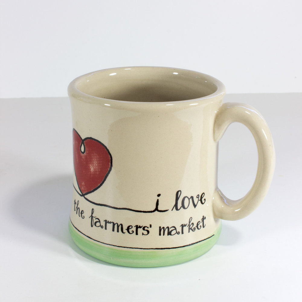 I Love The Farmers Market  Ceramic Arts Mug