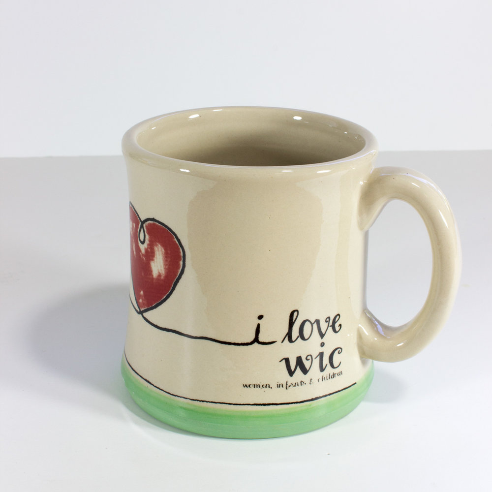 I Love WIC  Ceramic Arts Mug