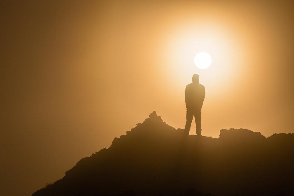 Helvellyn Summit Silhouette