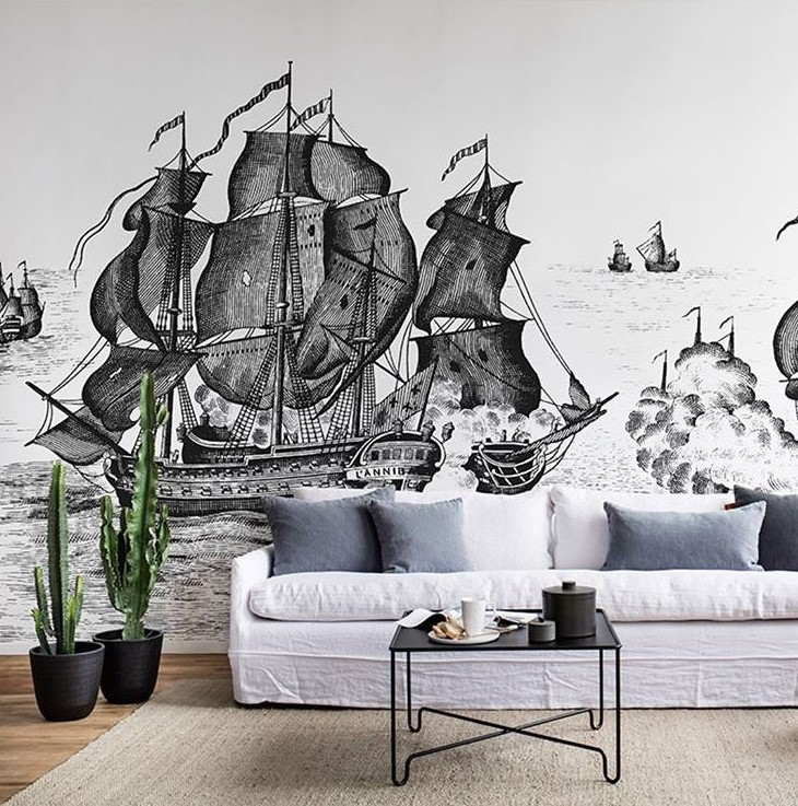 High Seas - Rebel Walls (image  @Rebelwalls)  I wish oh how I wish I had room at the Chalet to accommodate this wall mural!