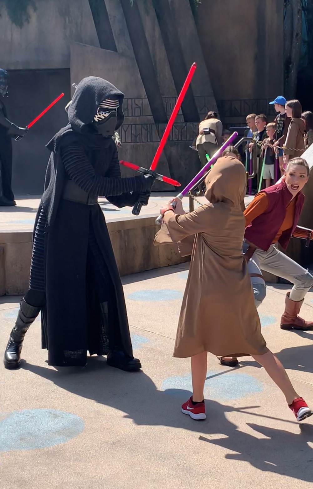 When your son has battled Kylo Ren you share the image!