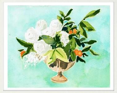 Floral Arrangement with Kumquats
