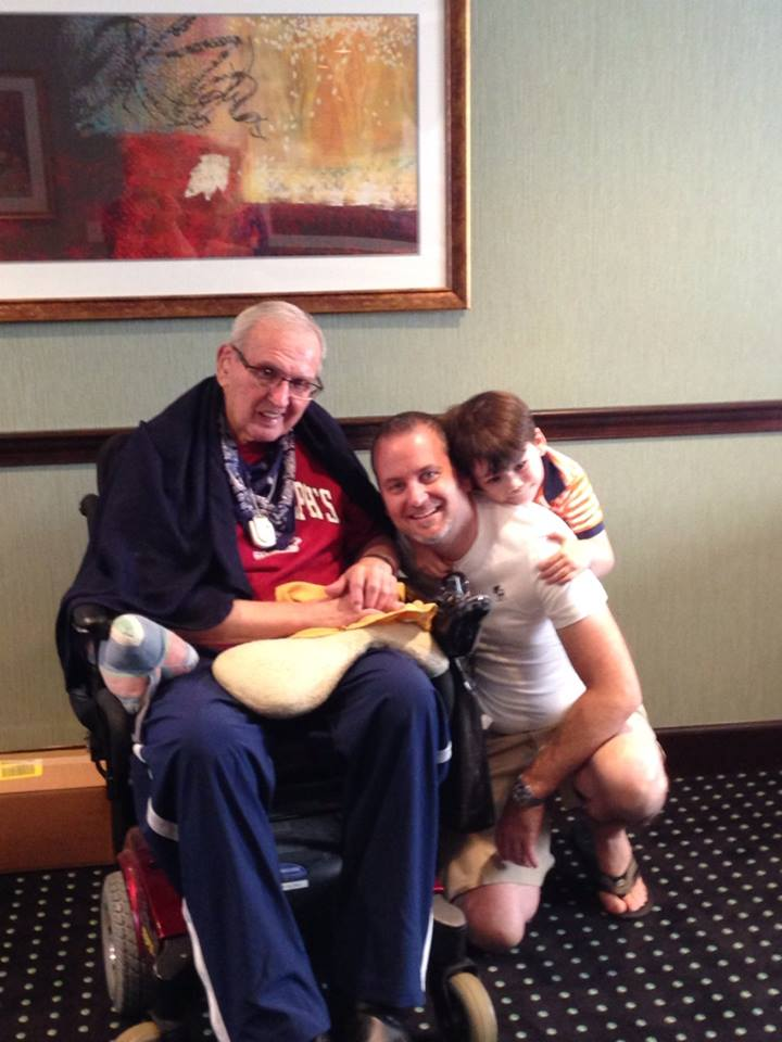 Uncle Paul with Steven and Liam August 9, 2014