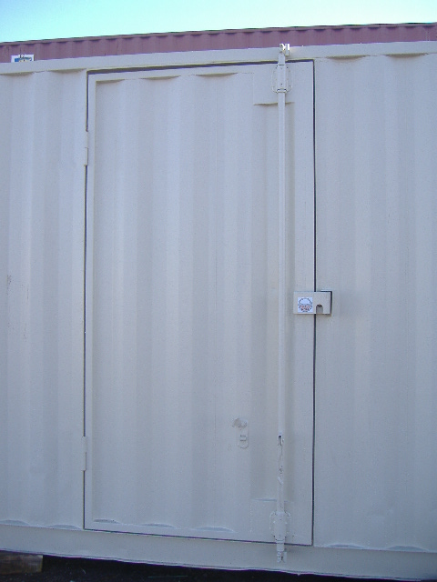 "44"" Existing Panel Door strong and secure."