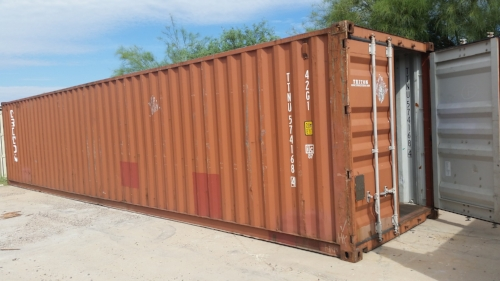 The 40 foot standard container is our largest ground unit with standard head space and is great for any project provided you have the delivery space at your site.