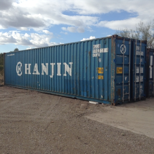 The 40 foot High Cube container is our largest ground unit with increased head space, perfect for shelves and stacking and is great for any project provided you have the delivery space at your site.